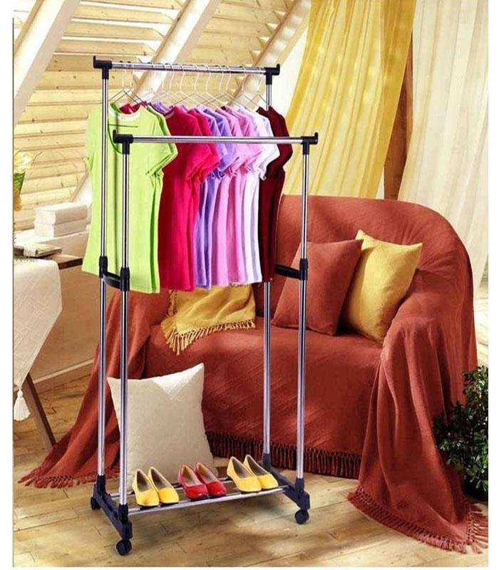folding-double-clothes-rack-shoe-rack