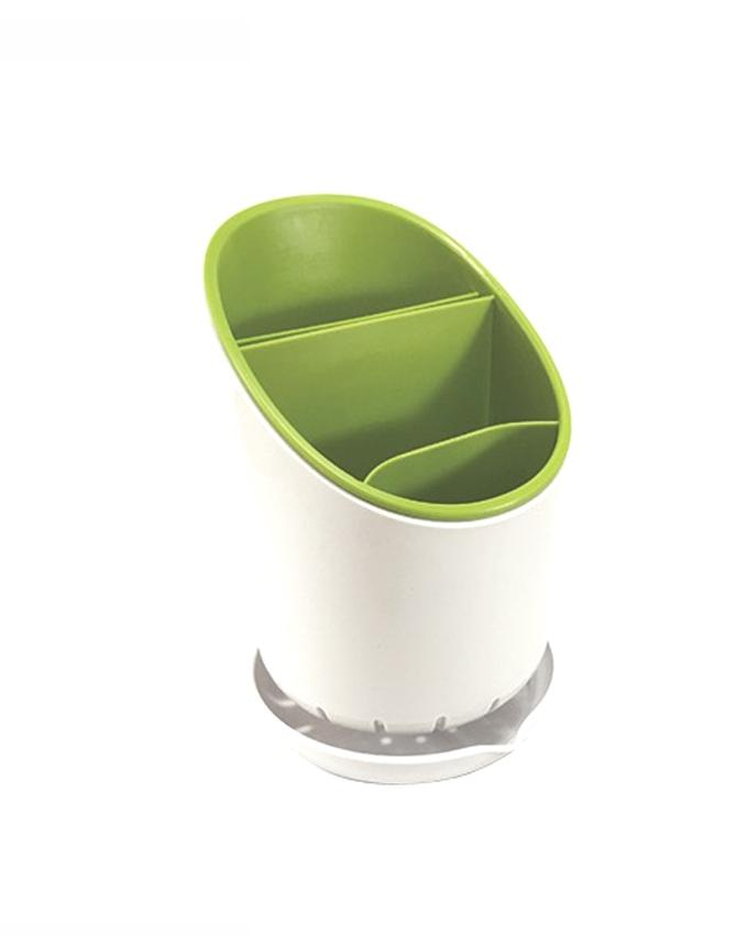 Cutlery Drainer and Organiser - Green and White