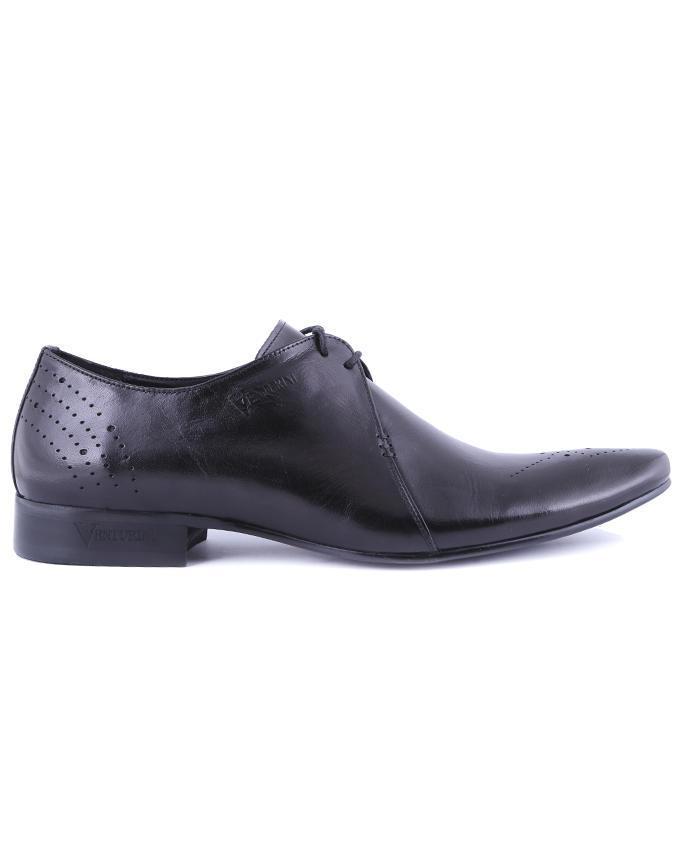 Venturini Leather Formal Shoe - Black