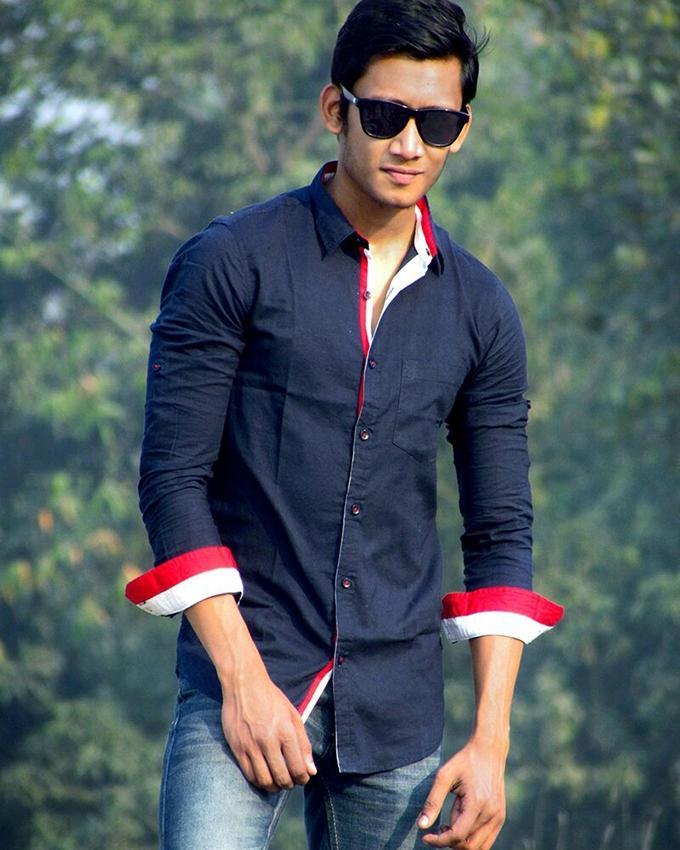 Cotton Full Sleeve Shirt For Men - Navy Blue
