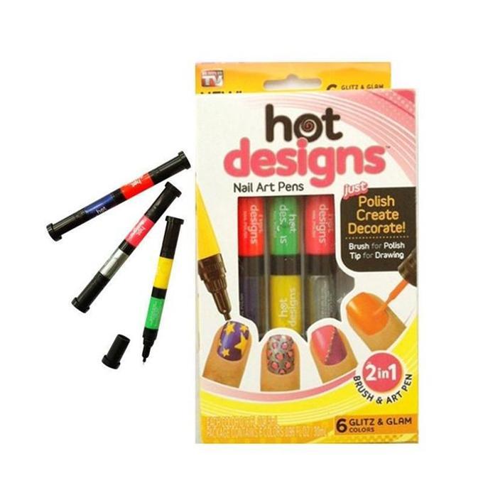 Nail Art Pen - 6pcs