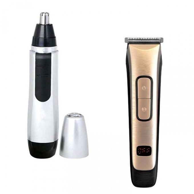 Combo of KM-236 Nose Trimmer and Trimmer- Black and White