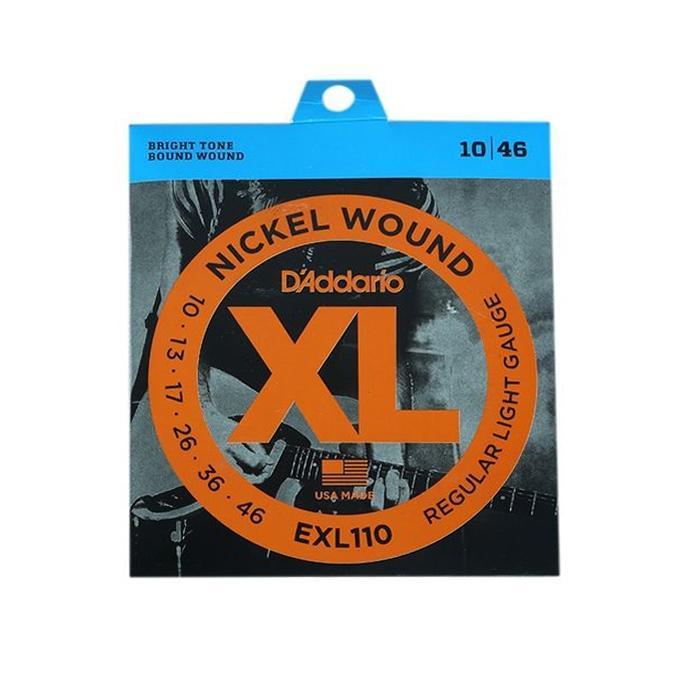 D'Addario EXL110-10P Nickel Wound Electric Guitar Strings Regular Light 10-46