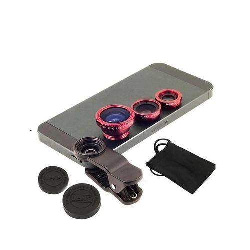 Universal 3 In 1 Clip Lens - Red