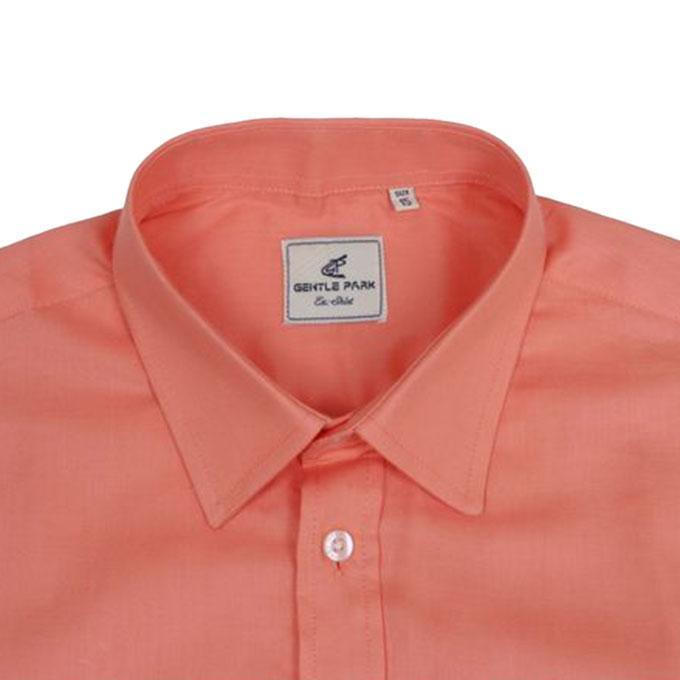 Light Coral Cotton Shirt For Men