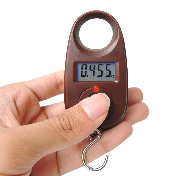 Hanging Luggage Weight Scale - Brown