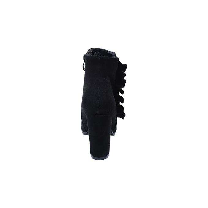 Black PU Leather Boot for Women