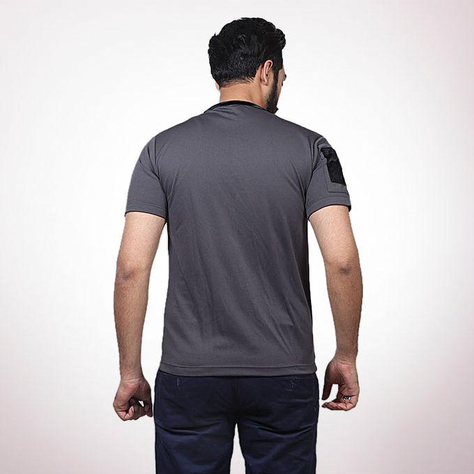 Ash Cotton Casual T-Shirt for Men