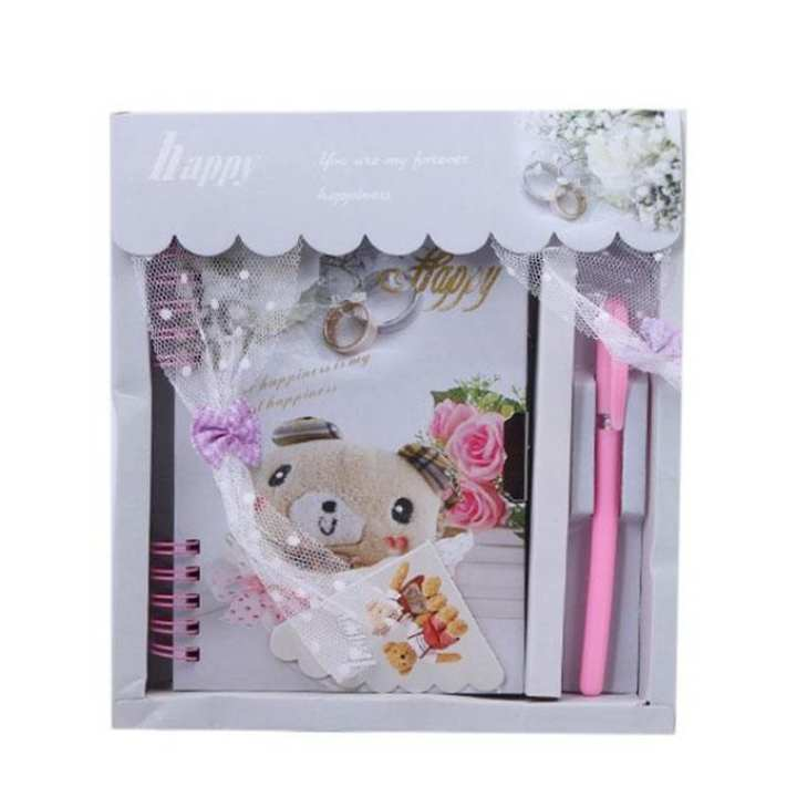 Fancy Notebook with Gorgeous Pen - White