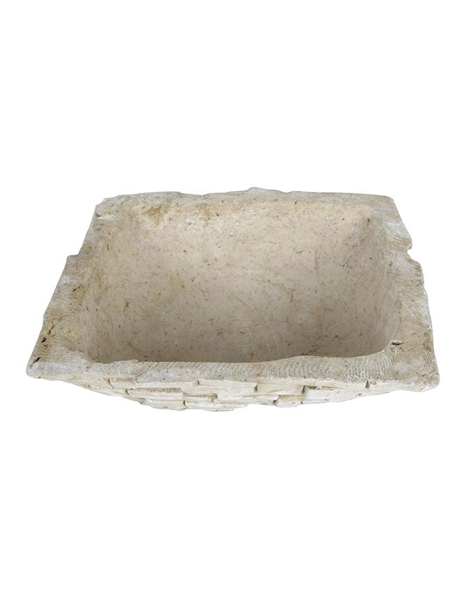 Cement and PP Plant Holder - Bone White