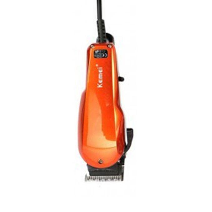 KM-9012 Orange Kemei Corded Professional Hair Clipper/Trimmer for Men