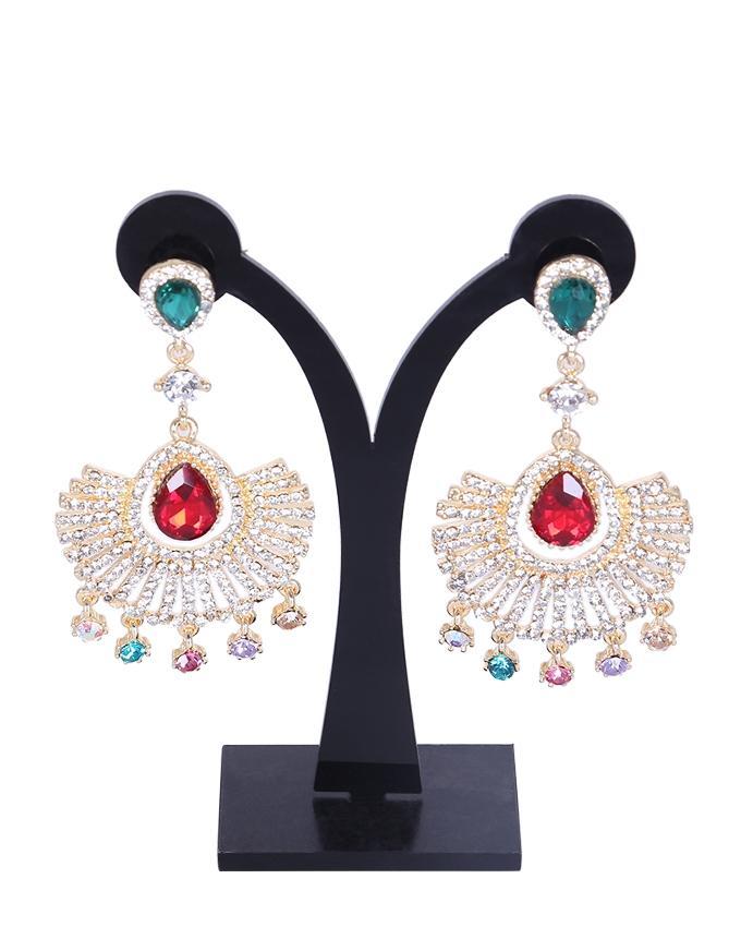 Diamond Cut Earrings For Women - Multi Color