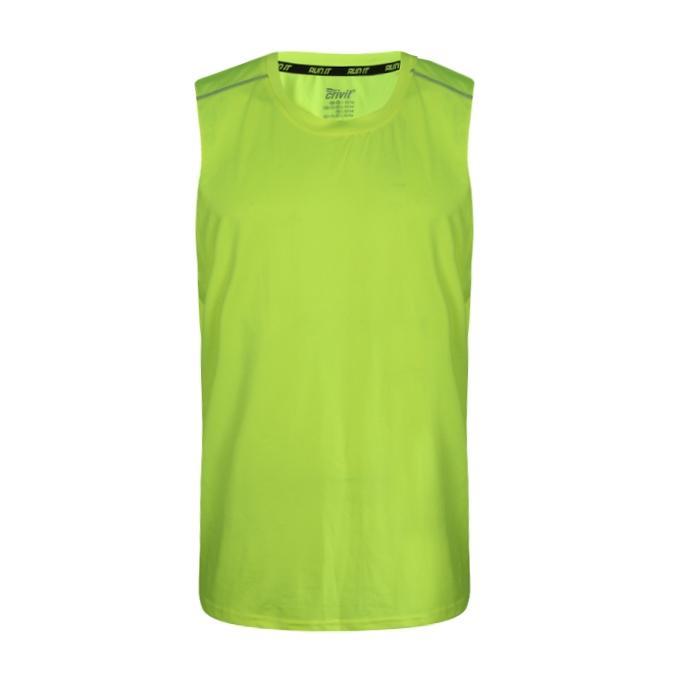 Yellow Green Cotton T-Shirt For Men