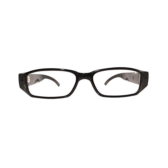 5MP HD Hidden Spy Camera Eyeglasses - Black