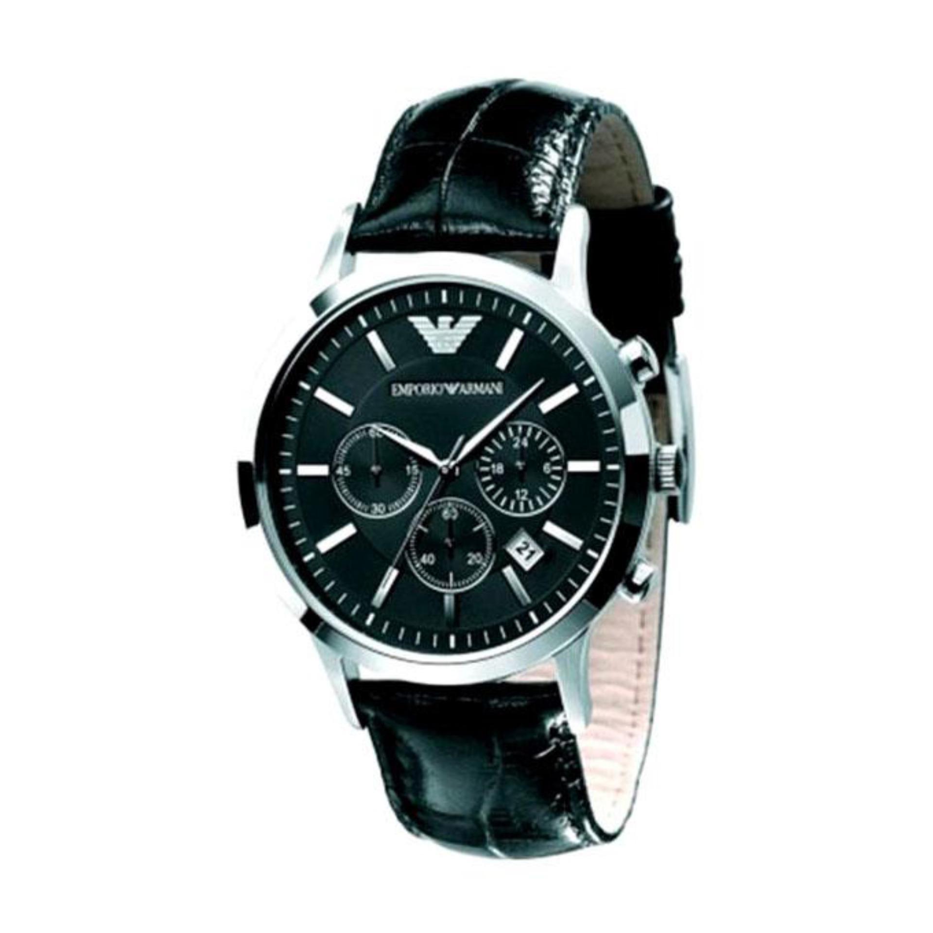 Leather AR2447 Analog Watch - Black