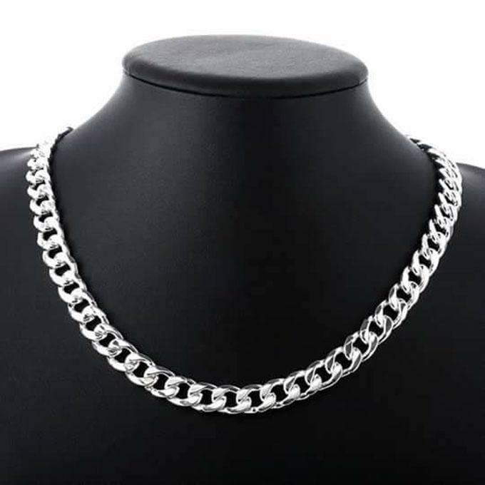 Silver Metal Chain For Men
