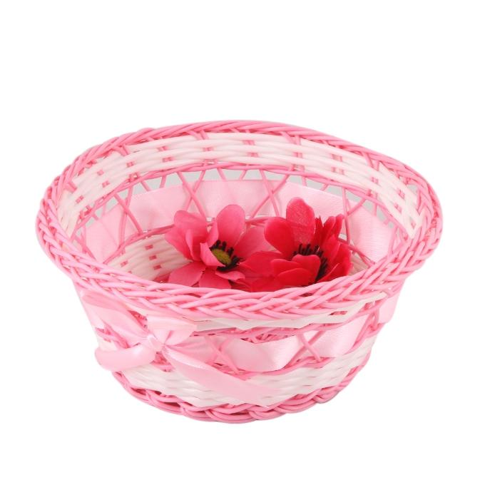 Plastic Fruit Basket - Pink