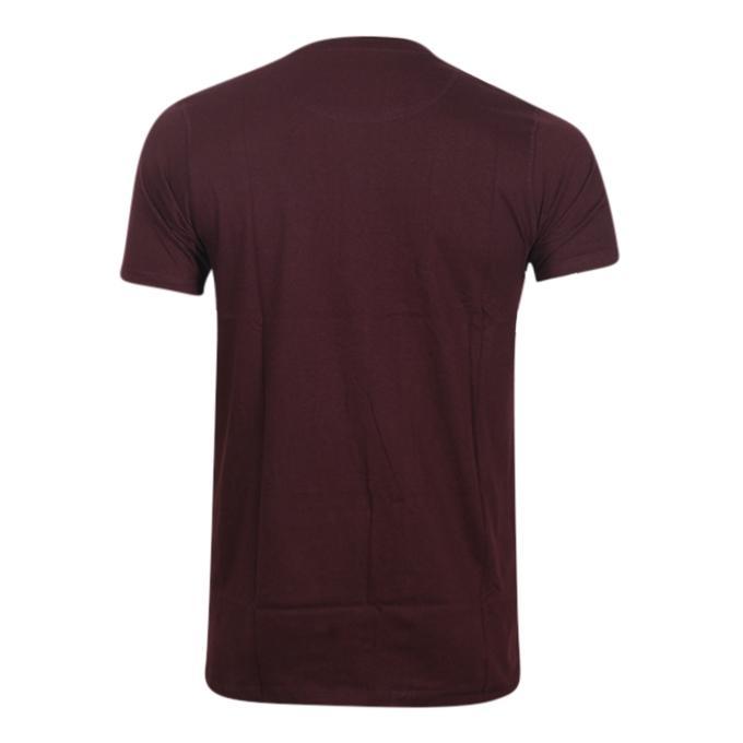 Maroon Cotton Short Sleeve T-Shirt for Men