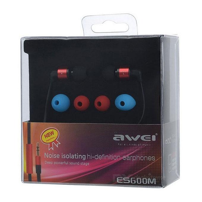 S600M In Ear Earphone 1.2M - Black and Red