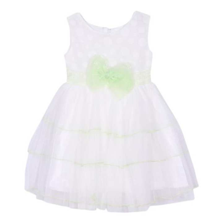 White Georgette Frock For Girls
