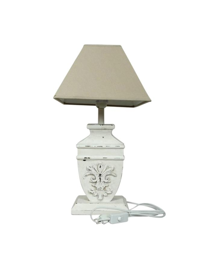 Table Lamp With Shade - Grey and White