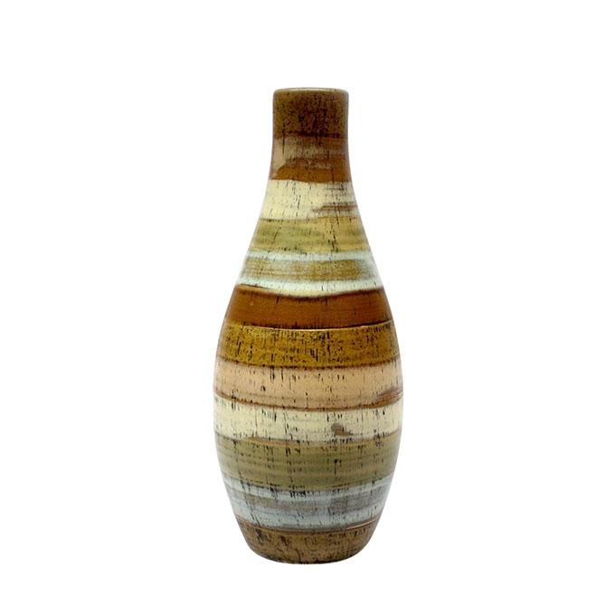 "Ceramic Bottle Vase - 14"" - Brown"