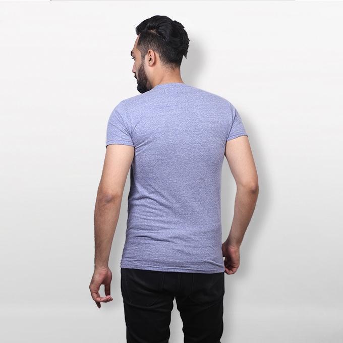 Light Purple Cotton T-Shirt For Men