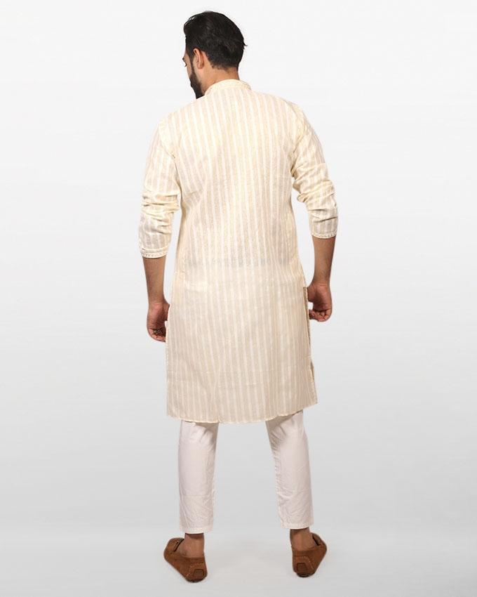 Bisque Braso Cotton Panjabi for Men