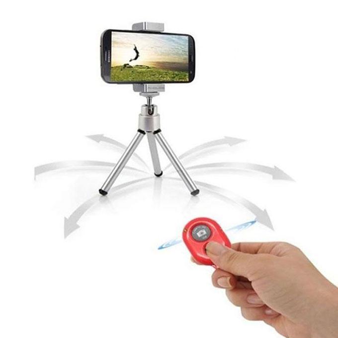 Wireless Bluetooth V3.0 Selfie Remote Shutter- Red