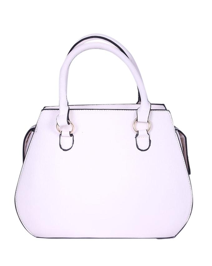 Leather Hand Bag For Women - White