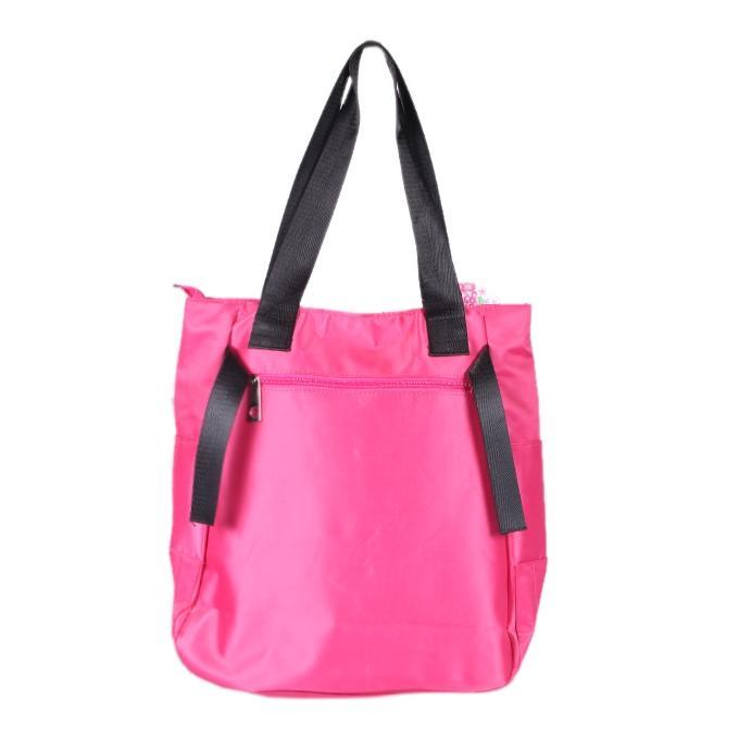 Pink Polyester Shoulder Bag For Women