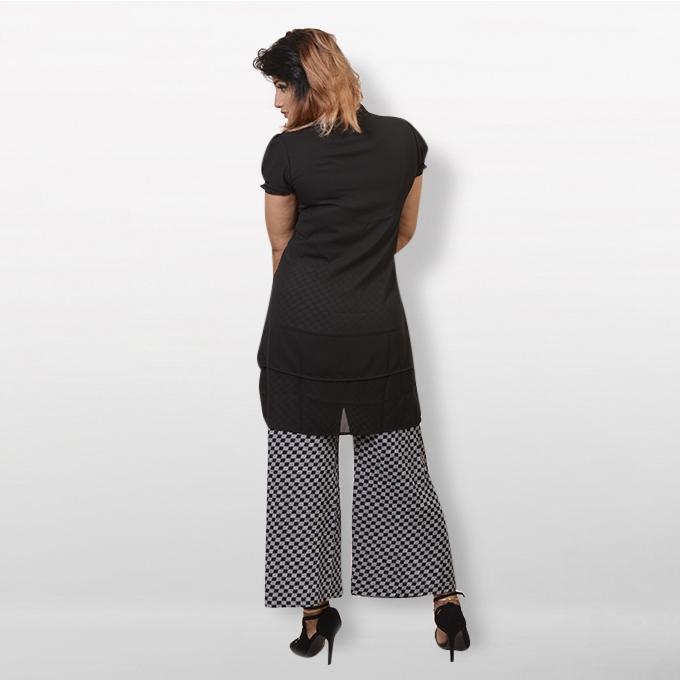 Black Double Georgette Tops For Women