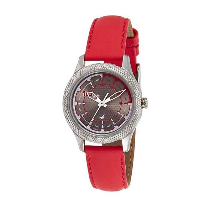 6158SL02 Leather Analog Watch For Women - Red