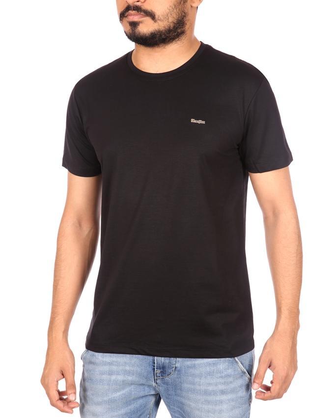 Tanjim Cotton Casual Short Sleeve T-Shirt - Black