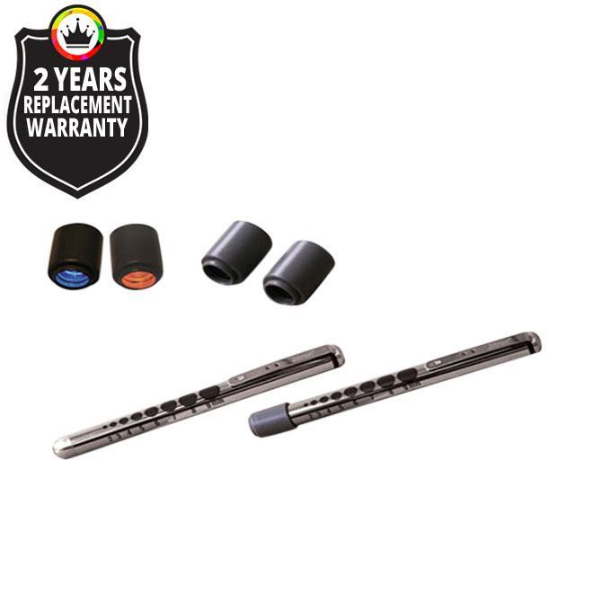 JT 907 / LED Penlight Brass Chrome Finish  - Black
