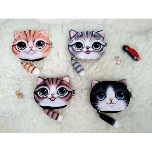 3D Kitty Tail Coin Purpse Girl'S Lovely Wallet