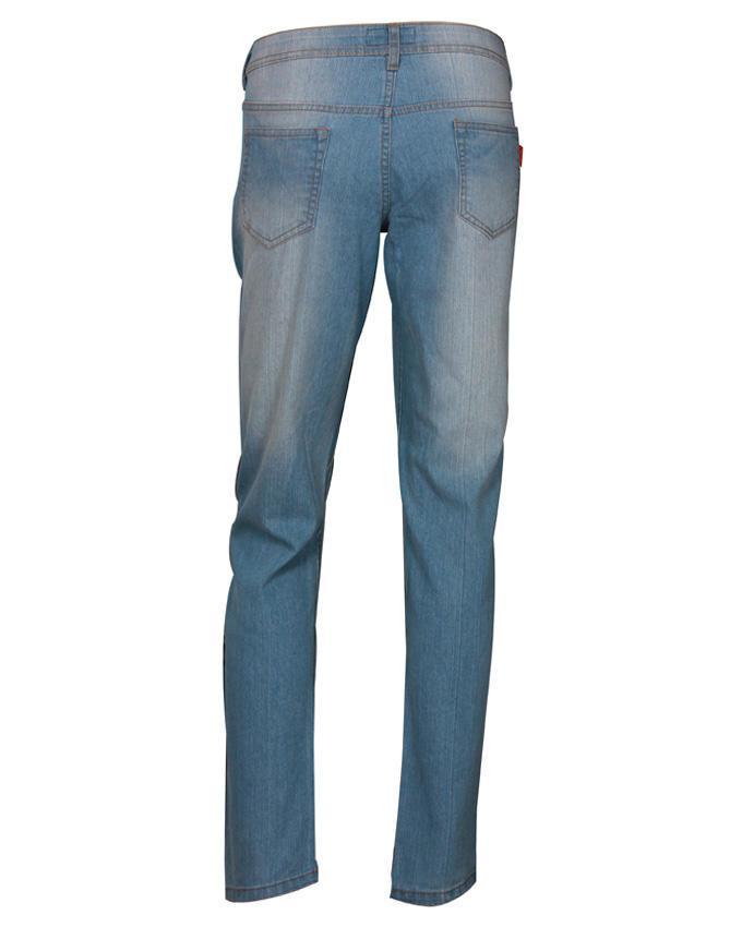 Cotton Casual Pants - Light Blue