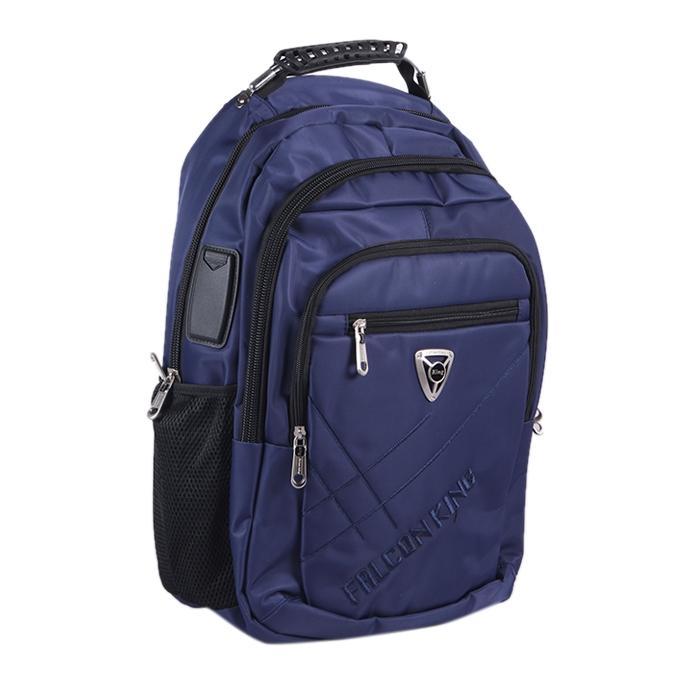 Polyester Backpack For Men - Navy Blue