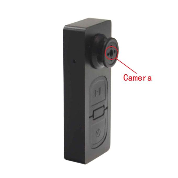 Spy Button Video Camera TF 32 GB Memory Card Supported-Black