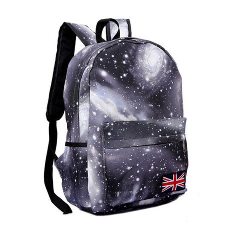 Men Women Waterproof Canvas Backpack Trendy Starry Sky Printed School Bag 79af190de4