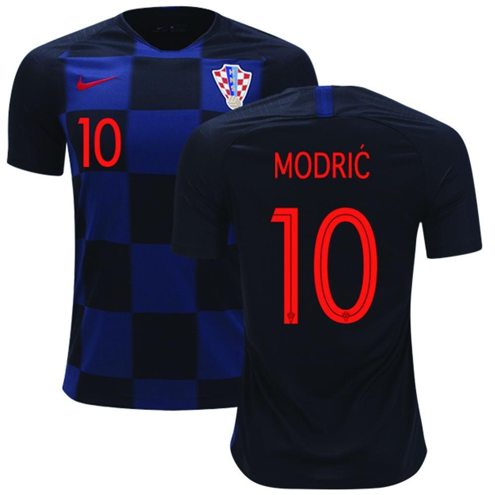 1719d00f1 Modric 10 Short Sleeve Croatia Away Jersey - World Cup 2018 - Semi Premium  Quality-