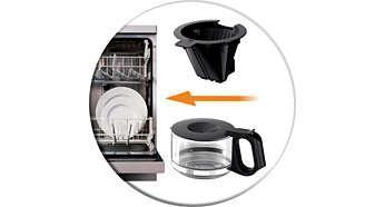 Dishwasher proof parts for easy cleaning