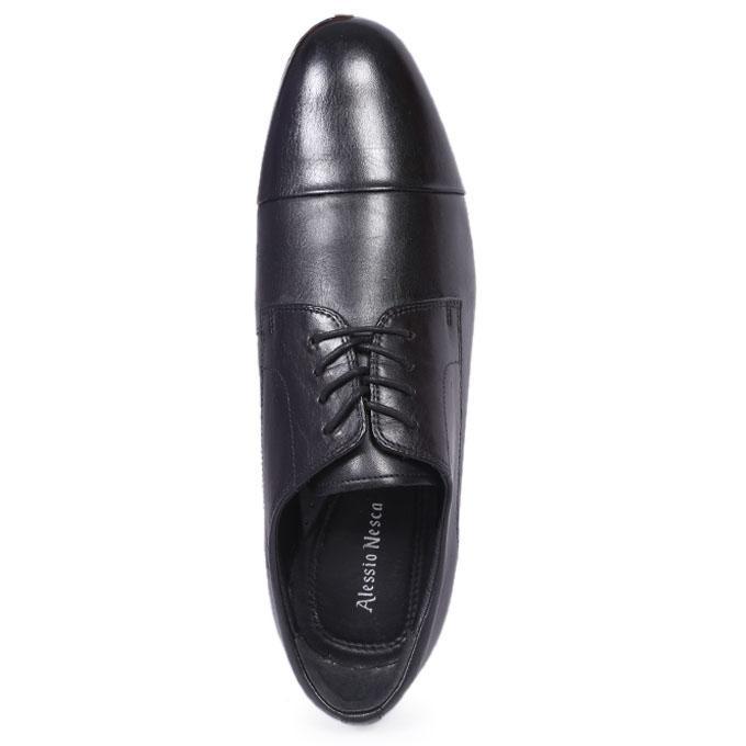 Black Superior Genuine Leather  Formal Shoes For Men