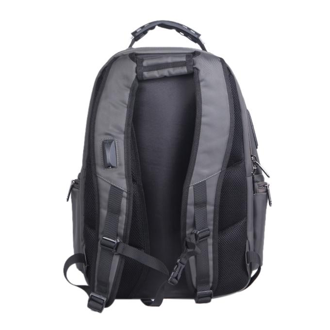 Gray Polystar Backpack For Men