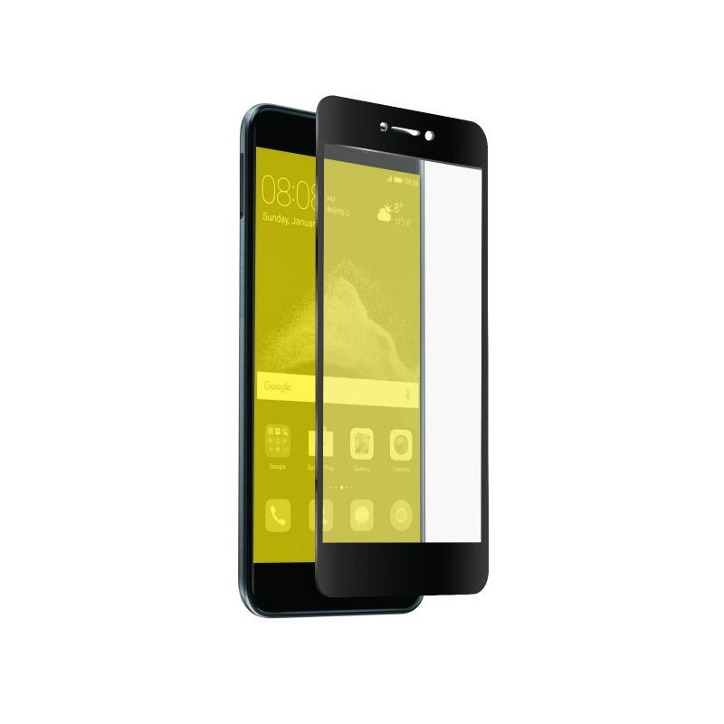 Full Covered Glass Screen Protector for P8 Lite - Black