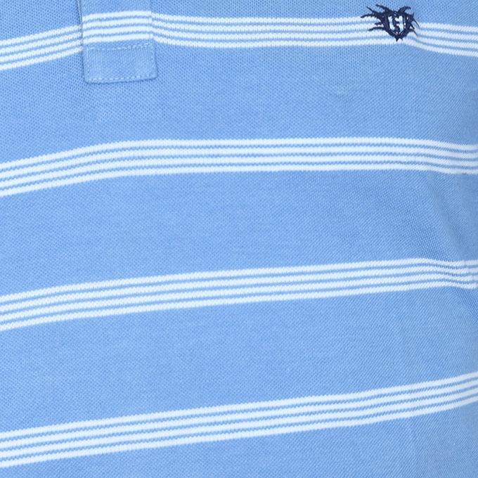 Sky Blue Cotton Polo For Men
