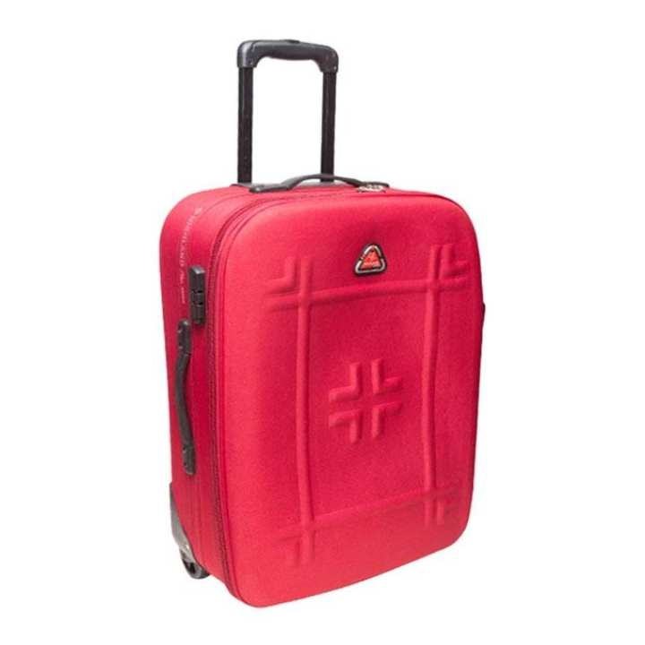 "24"" Red Parachute Fabric Trolley Bag"
