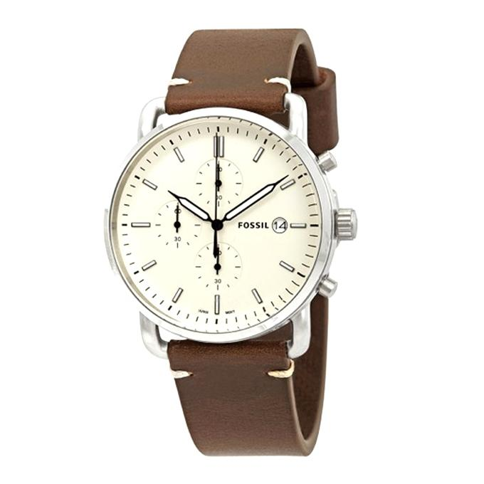 45ba3755815 FS5402 - Leather Chronograph Watch for Men - Brown