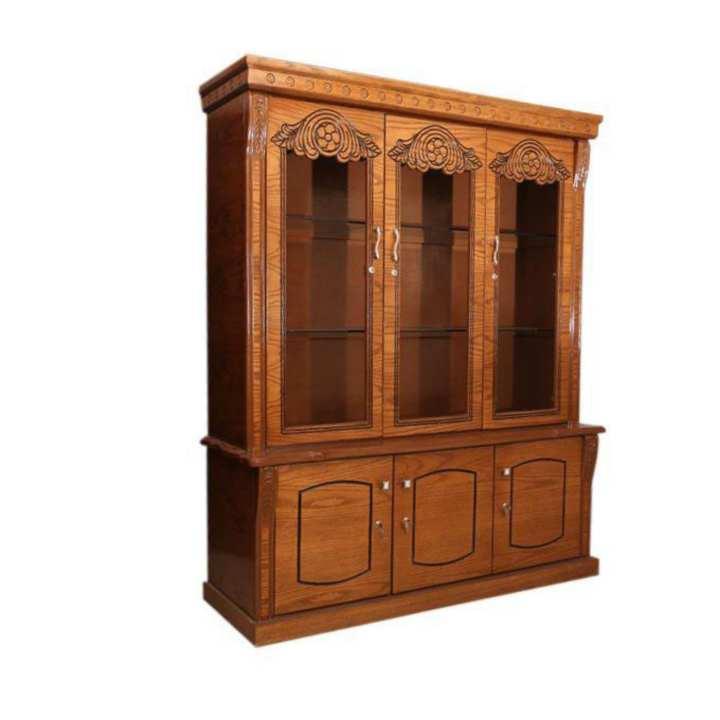 Veneered Cabinet Crystal ( Oak Wood)