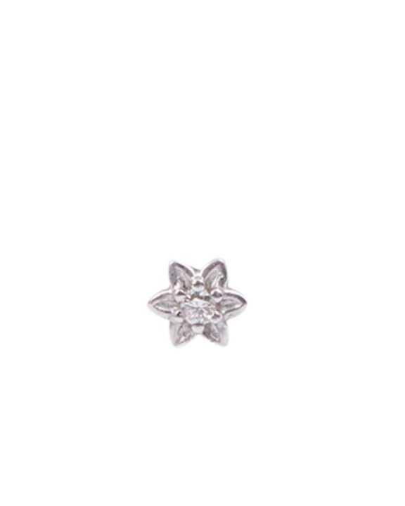 "Diamond Nosepin ""White 1 Stone Star"""